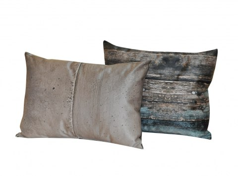 Set of 2 pillows Concrete & Old Wood
