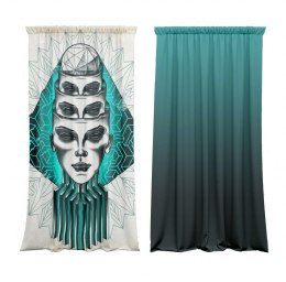 Abstract Cotton Curtains