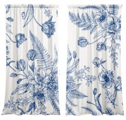 Blue Flower Curtains