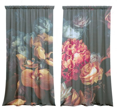 Cotton Chick Flower Curtains