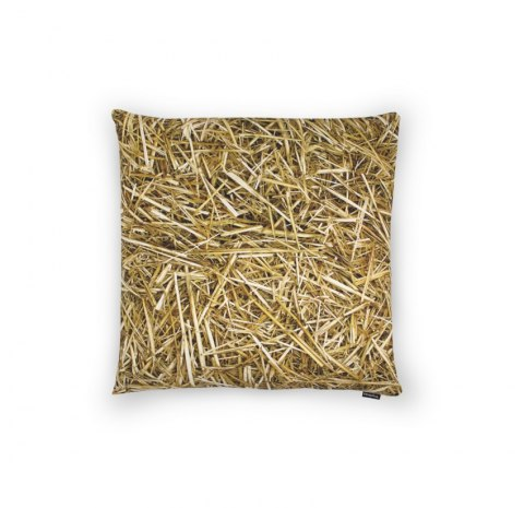 STRAW-pillow filled with buckwheat husm-40x40 cm