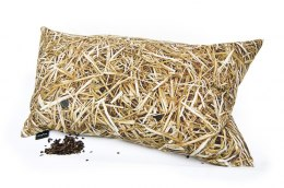 STRAW-pillow filled with buckwheat huss-50x30 cm