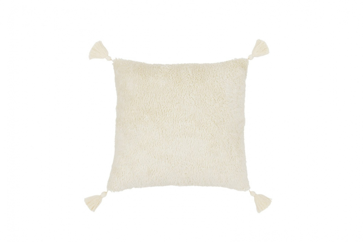 BOHO SQUARE FUR PILLOW WITH WOSTAMI