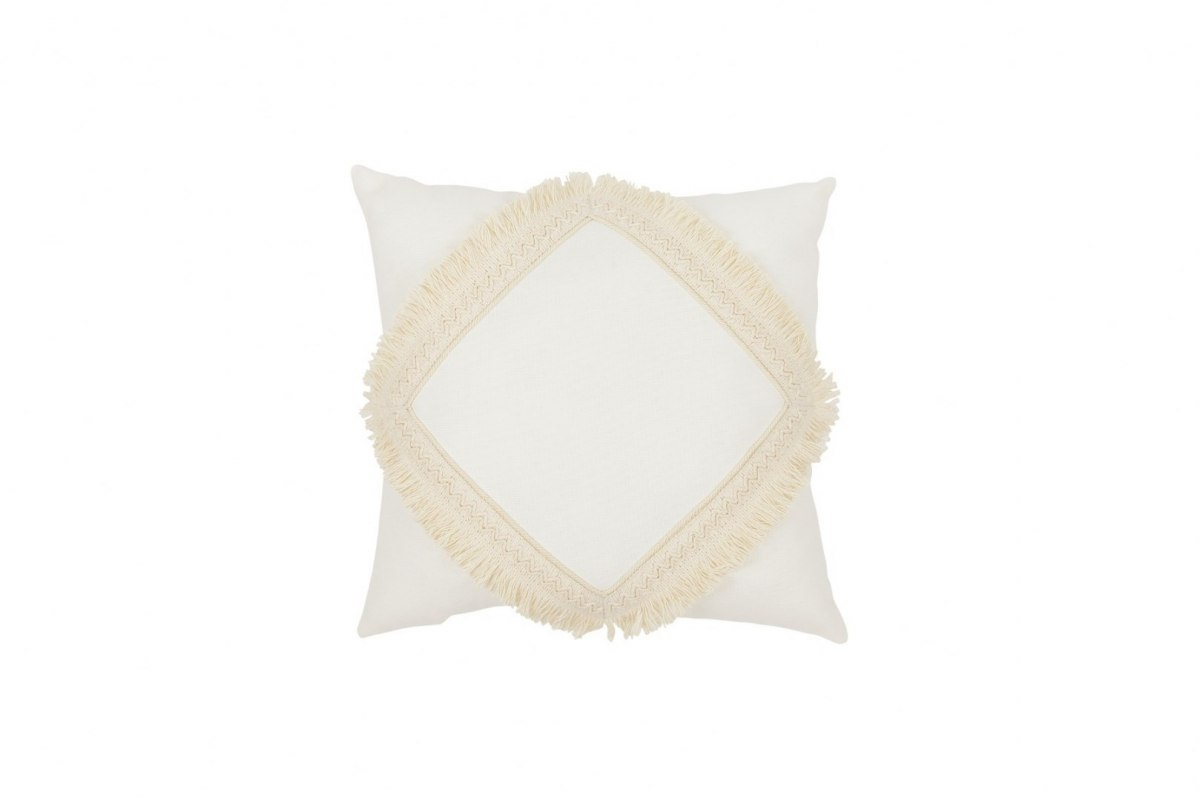 BOHO SQUARE PILLOW WITH LACE