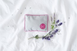 MINI PILLOW WITH HERBS LAVendER ROSE/GREY